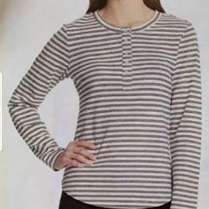 Vintage America Women's Blouse, white/black stripe